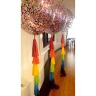 Большой воздушный шар с конфетти и гирляндой Tassel
