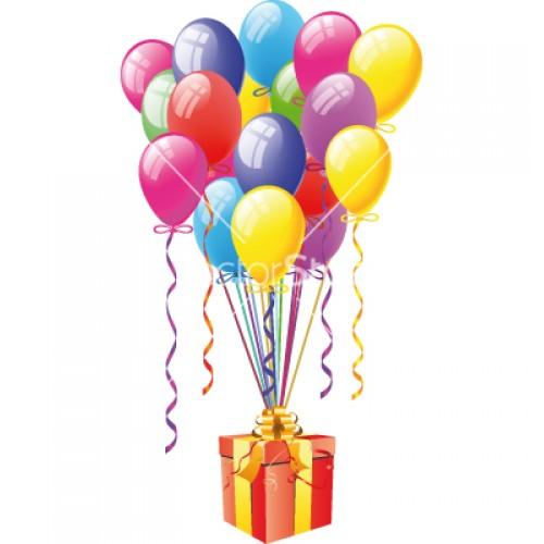 Коробка с воздушными шарами
