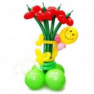 Смайл с  цветами